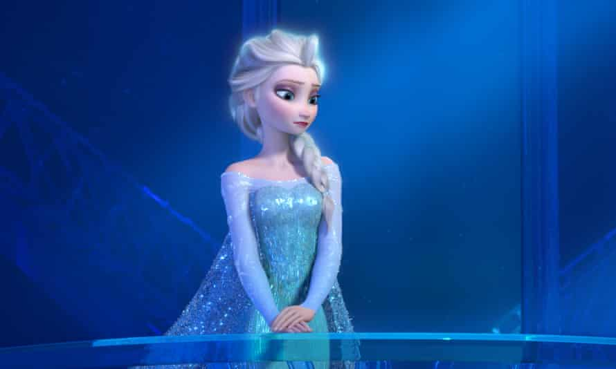 Let it go: a teenage Elsa the Snow Queen, voiced by Maia Mitchell, in Frozen.