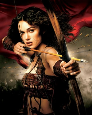 King Arthur poster featuring Keira Knightley.