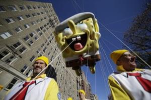 A Spongebob Squarepants balloon