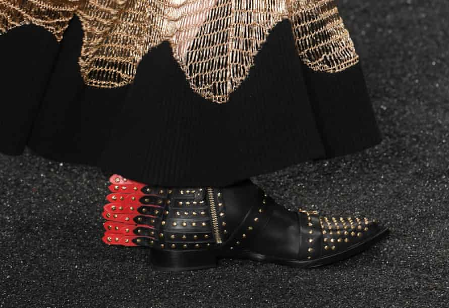 Shoes in the Alexander McQueen show.