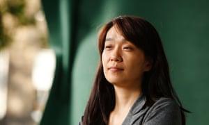 South Korean writer Han Kang at the 2015 Edinburgh book festival.