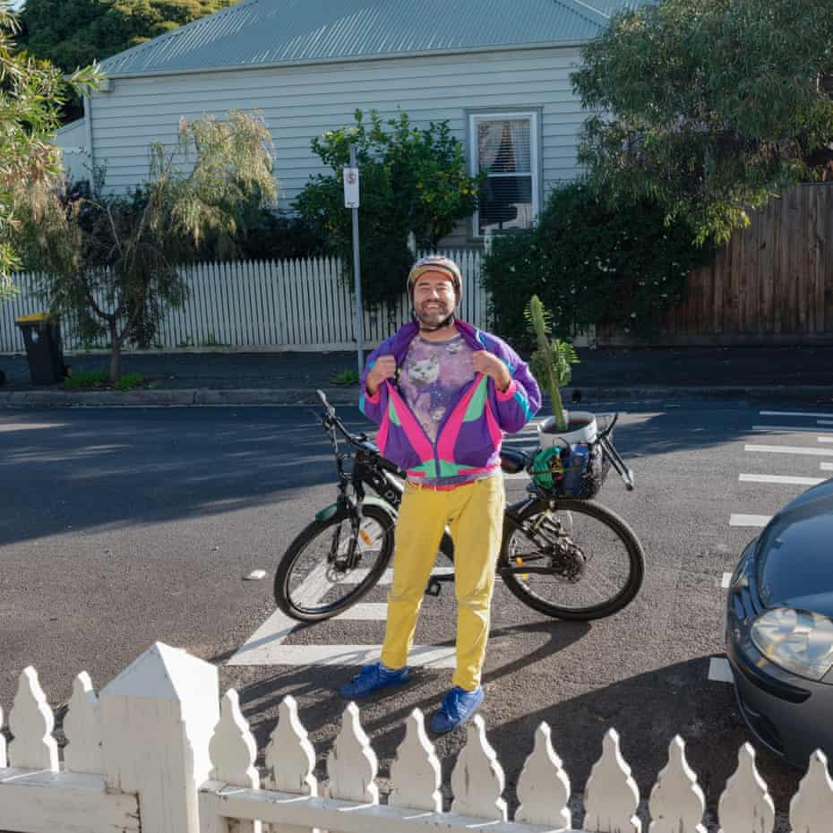 Neels owns a hairdressing salon for curly hair in Fitzroy and often cycles past.