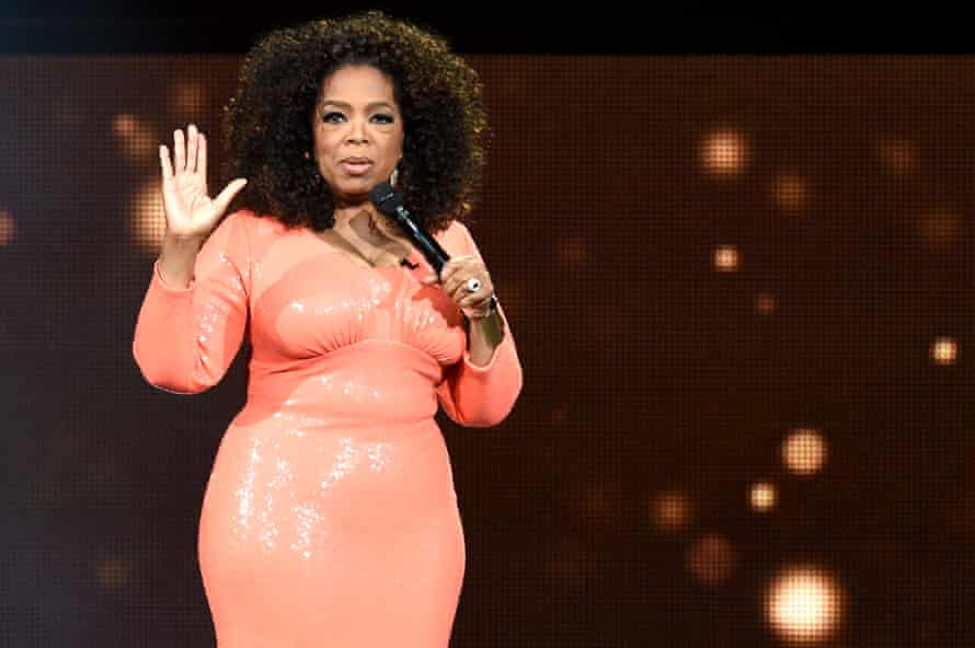 Oprah Winfrey on stage in Melbourne. 'I'm here to help you turn up the volume in your life.'