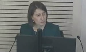 NSW premier Gladys Berejiklian giving evidence to the Icac.