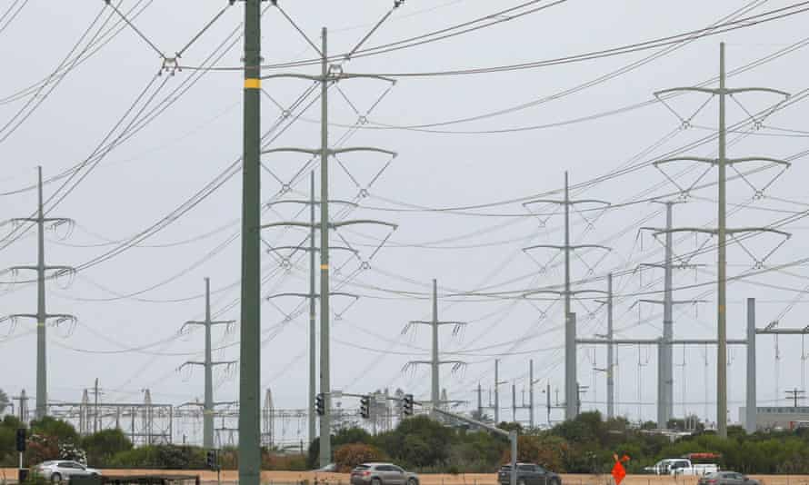 Power lines in Carlsbad, California. Consumers are preparing for more possible outages in the state.