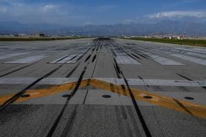 A runway at Bagram US airbase.