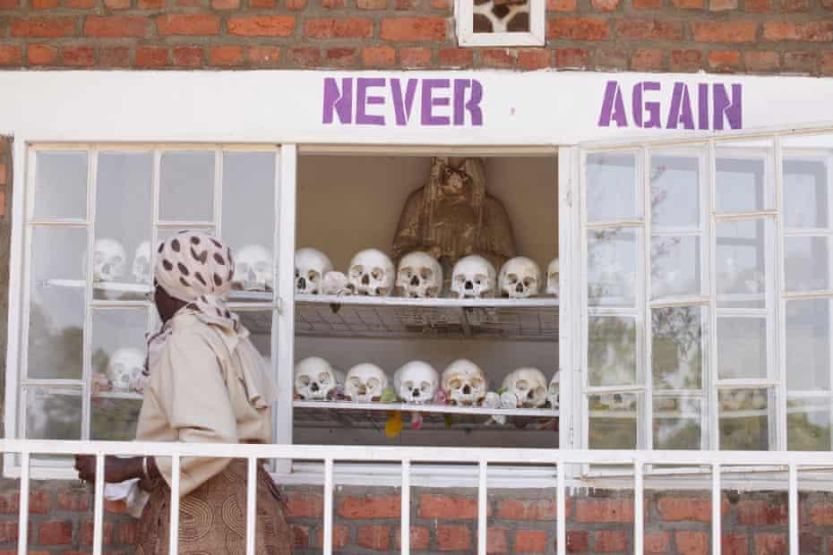 A memorial to the more than 11,000 Tutsi men, women and children murdered at Kibuye.