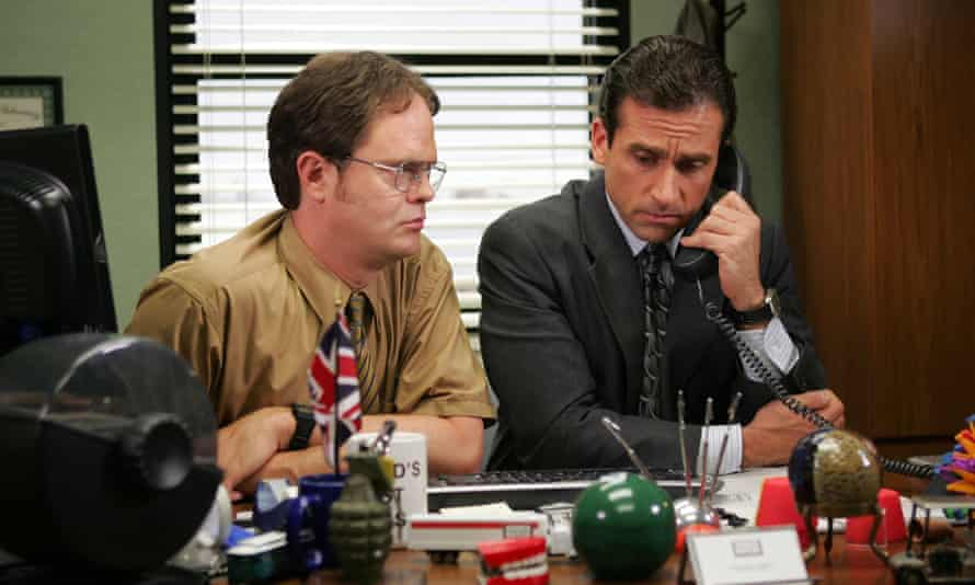 With Steve Carell in the office.