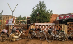 Bicycles parked outside the Ciné Burkina.