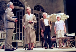Alec McCowen, Angela Thorne, Donald Sinden and Stephanie Cole in Quartet, set in a home for retired opera singers, at the Albery in 1999.