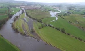 Floodplains of river Eden in Cumbria, 2016.