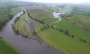 Floodplains of river Eden in Cumbria, 2016.