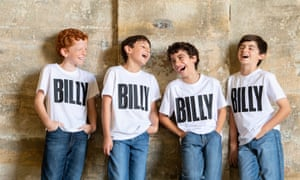 The boys who play Billy: Jamie Rogers, River Mardesic, Omar Abiad and Wade Neilse.