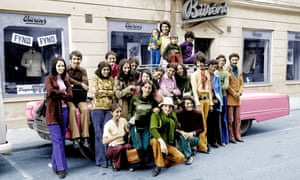 Osama bin Laden (second from right) on a visit to Falun, Sweden, in 1971.