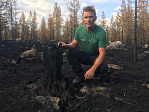 Christian Rimpi, forest manager near Jokkmokk. 'We've lost 40 or 50 years in the younger forests that burned.'