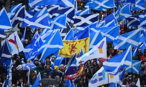 A march last month in Glasgow calling for Scottish independence.