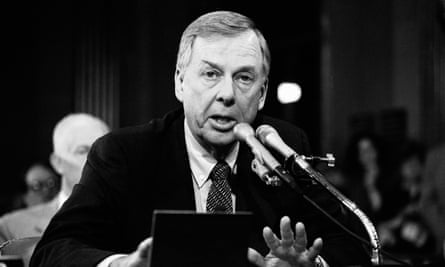 In a 1984 file photo, T Boone Pickens speaks at the Helmsley Palace Hotel in New York.