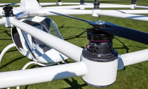 The Volocopter has 18 helicopter-style rotors.