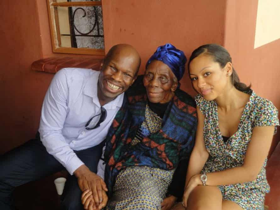 Maurice Mcleod with Gogo and his daughter Jessica in Swaziland in 2011