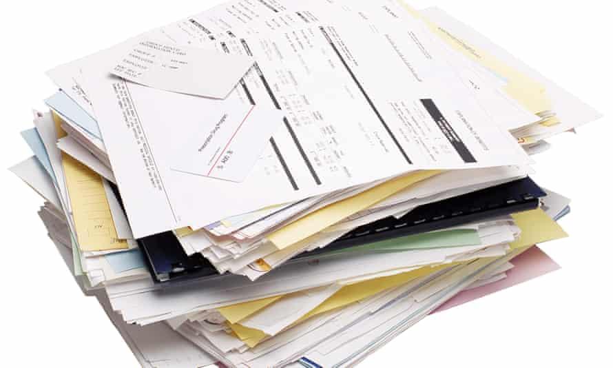 Pila de formularios