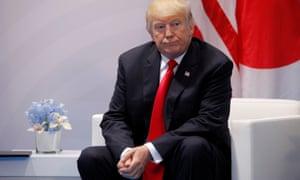 Donald Trump at the G20 leaders summit in Hamburg, Germany.