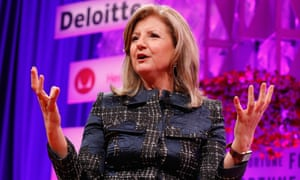 Ariann Huffington, founder of Huffington Post, whose parent company Verizon last month announced 800 job cuts in its media division.