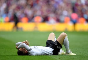 Derby County's Harry Wilson looks dejected after the final whistle.