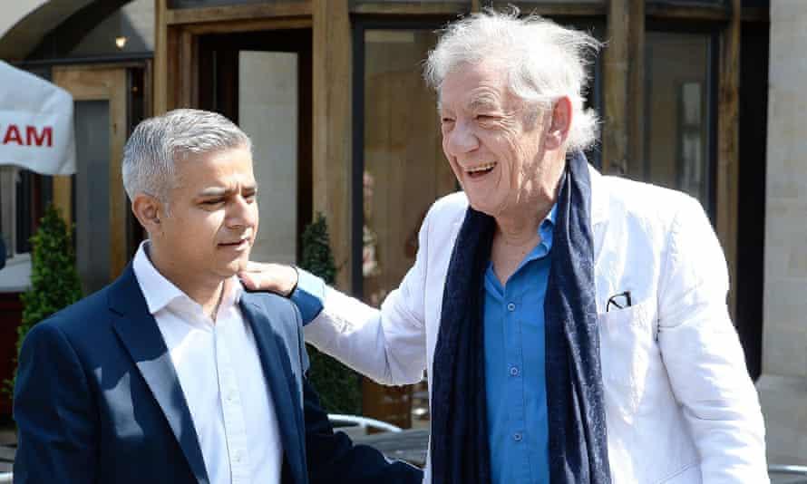 Sir Ian McKellen and Sadiq Khan