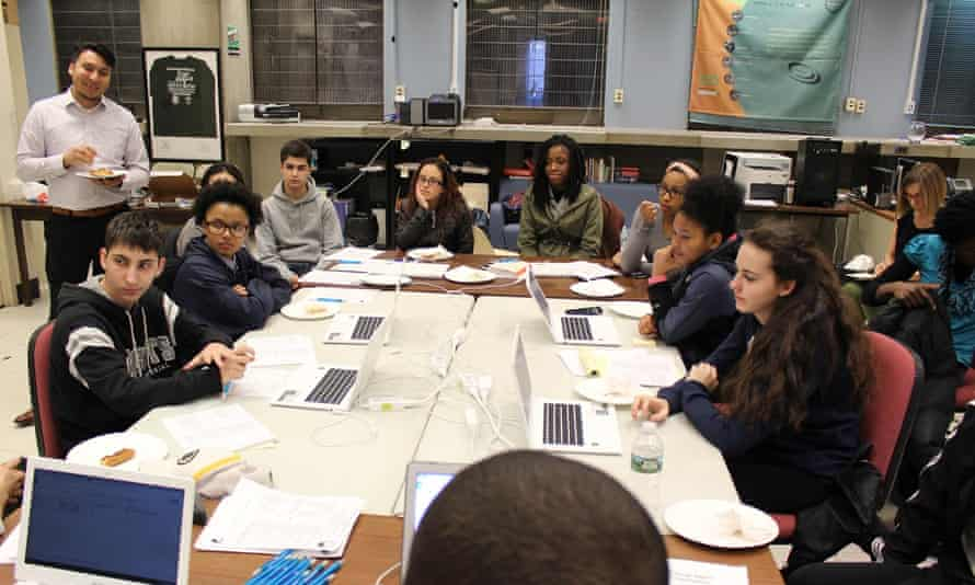 A youth 'Change Agent' committee meets at Boston's City Hall in March to narrow down ideas before the final vote.