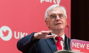 John McDonnell speaks at Labour's annual day conference on the economy.