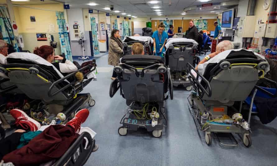 Busy NHS A&E unit