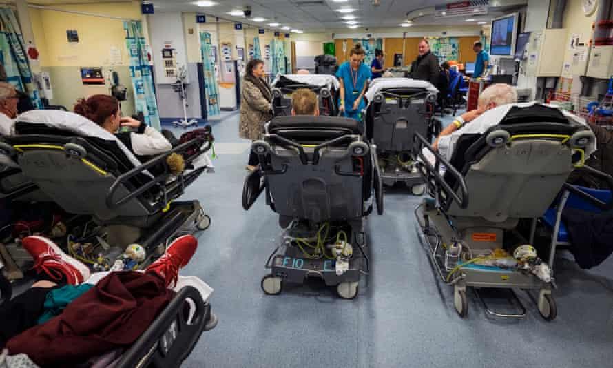 A&E at a Nottingham hospital.