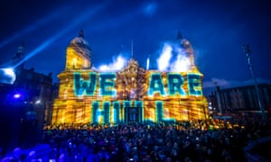 Zsolt Balogh's installation We Are Hull, Maritime Museum, Hull, New Year's Day 2017.
