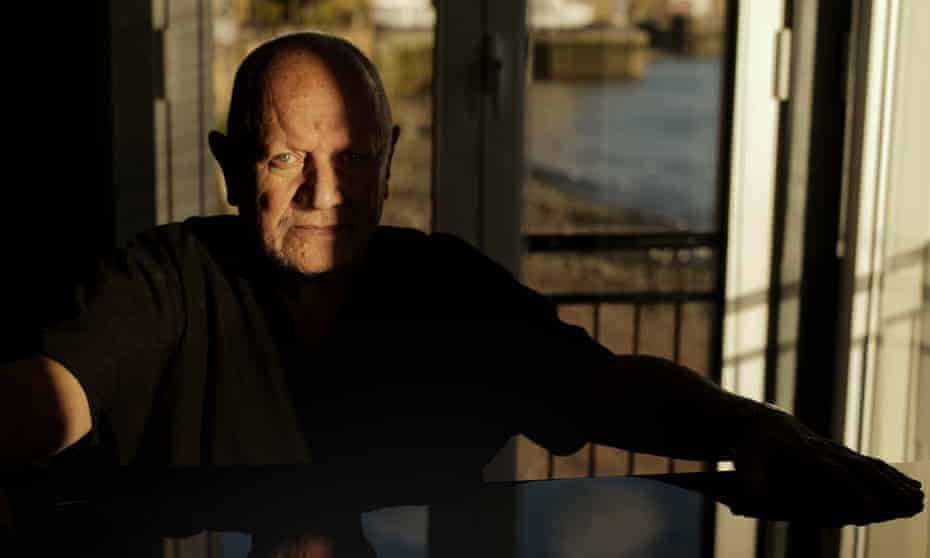 Steven Berkoff at home in Limehouse, London.