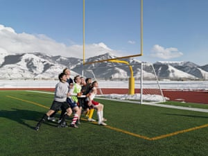 Lucas Foglio football practics snow wyoming