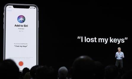 Craig Federighi, Apple's senior vice-president of software engineering, talking about Siri in San Jose last year.