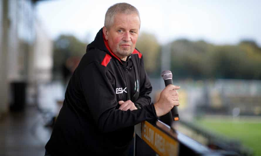 Liam Hickey, the stadium announcer for Dulwich Hamlet.