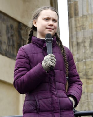 Greta Thunberg addresses student strikers for climate change in Berlin