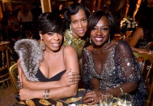 Niecy Nash, Regina King and Viola Davis at HBO's party.