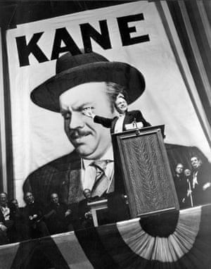 Orson Welles in Citizen Kane.