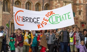 Following campaign by staff and students  Cambridge University management has agreed to look at its financial backing for the fossil fuel industry