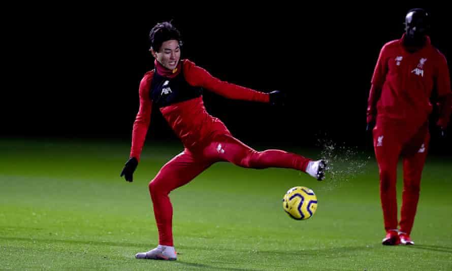 Takumi Minamino was signed from Red Bull Salzburg in December.