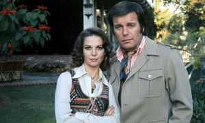 Robert Wagner and Natalie Wood in their garden.