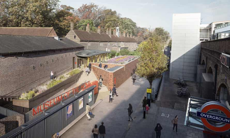 An illustration of the new entrance opposite Hoxton overground station