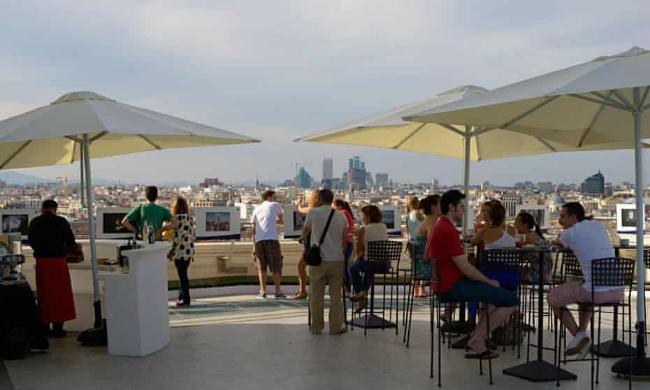 The rooftop bar at Circulo de Bellas Artes.