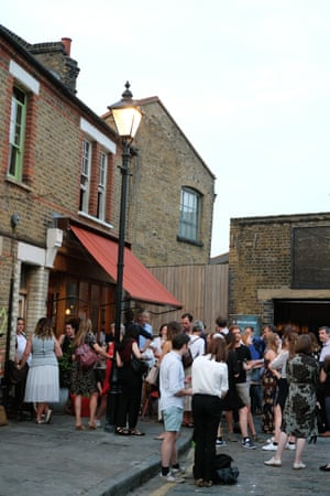 Meanwhile, the guests gather at a Campania & Jones east London charity event