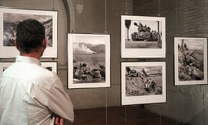 Some of David Douglas Duncan's war images on show in Perpignan, France, 2008