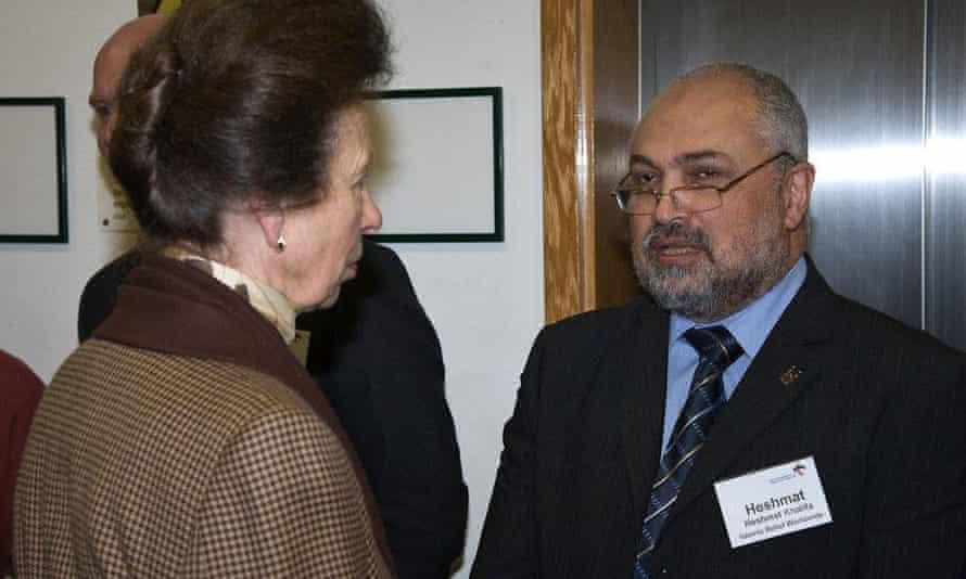 Heshmat Khalifa, who resigned from IRW on Wednesday, meeting Princess Anne.
