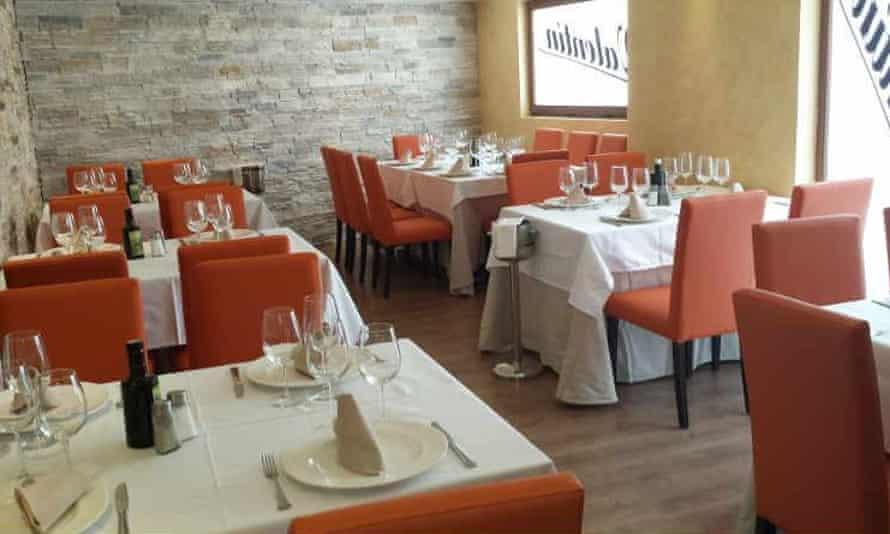 Dining room at Valentin, Almeria, Spain.