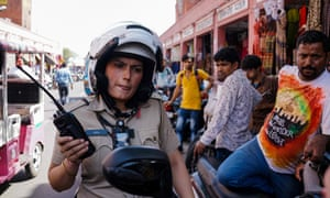 Saroj Chodhuary, an Indian police constable in Jaipur, where a similar unit has been established